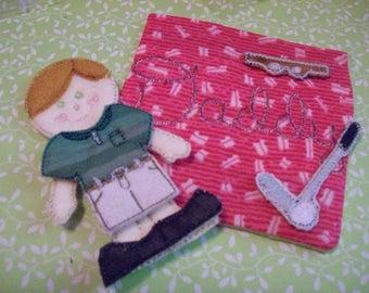 Daddy Flat Doll Mini Play Set