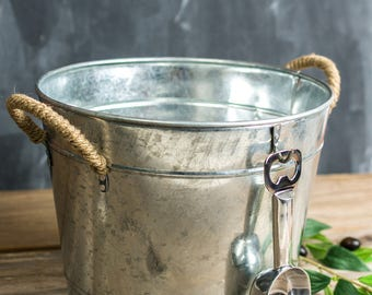 Rustic Monogram Beverage or Ice Bucket