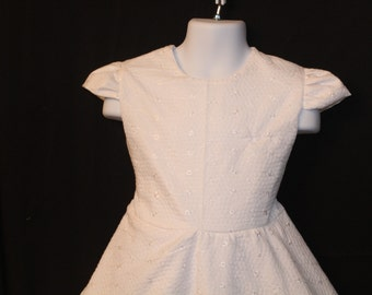 White eyelet easter dress