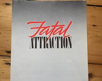 Fatal Attraction (1987) - Movie Programme (Glenn  Close / Michael Douglas)