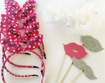 Bachelorette Tiara. Customizaed Bridesmaid tiara. Wedding Party. Bachelorette Party. Bride Gift. Bridal Gift. Bridal Party ,Bunny ears tiara