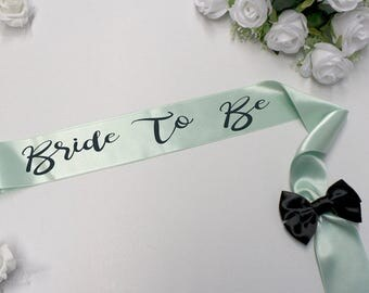 Wedding Sash, Bride Sash, Bride To Be Sash, Satin Bridal Sash, Custom Bride Sash, Bride To Be Sash, Wedding Sash, Bachelorette Party