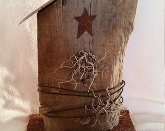 Barn Board Wood Primitive Birdhouse