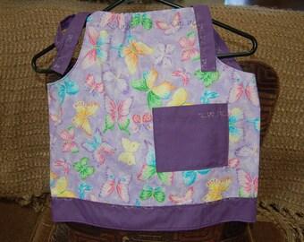 Pillowcase dress child's/infants purple sparkly butterflies