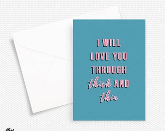 Thick and Thin Valentines Day Cards