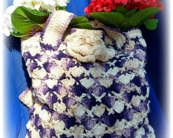 Crochet, crocheted purse, crochet bag handbags