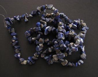 Sodalite Chips (Grade B) Approx 242 pcs strand, Approx 85cm long