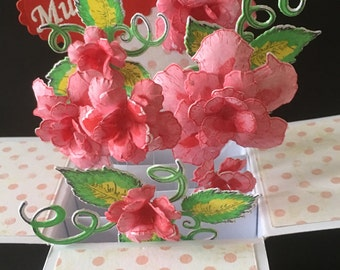 Mother's Day card 3D pop up box card