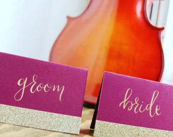 Calligraphy Wedding Placecards / Placecards / Wedding Placecards / Calligraphy Placecards / Place Cards / Wedding Place Cards