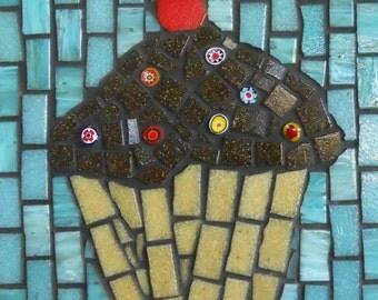 Mosaic Wall Art Cupcake Glass Mosaic
