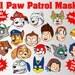 21 Paw Patrol Printable Kids Masks   Marshall, Skye, Ryder, Rocky, Zuma, Everest, Rubber, Tracker, Robo-Dog, Apollo, Danny X