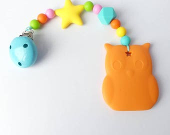 Biting chain silicone OWL stained