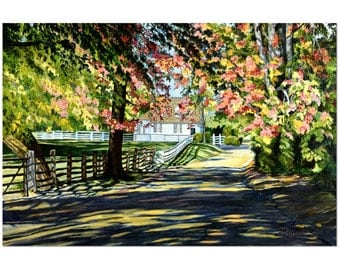 Giclee Print - Wall Art - Contemporary Art - Landscape Painting - Home Decor - Large Wall Art - Shadowed Lane