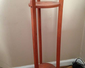 Wood Plant Stand - Plant Stand - Indoor Plant Stand - side table