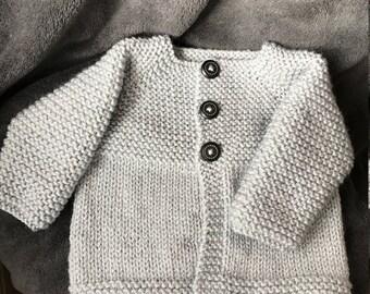 Handknitted Newborn Baby Cardigan