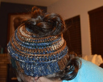 MBH brown/blue varigated yarn.  New stitch with free shipping !