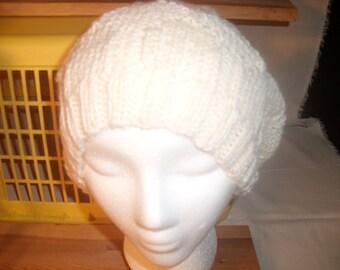 Knitted Women's Bret- Ecru