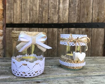 Pretty shabby chic trend candles
