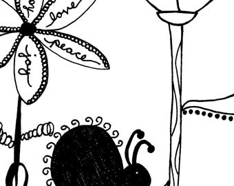 Love Bug Coloring Page