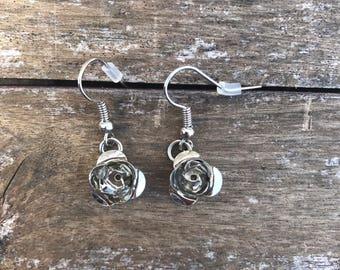 Dainty Rose Earrings