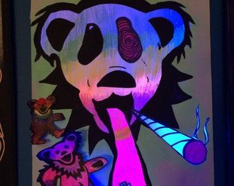 Grateful dead black light trippy art