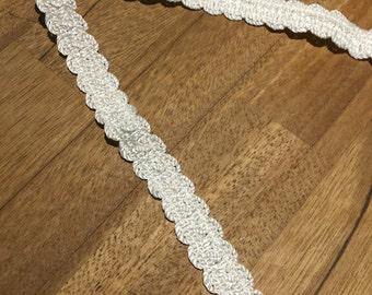 16mm x 2.5m Pretty Cream Upholstery Braid, Decorative Trim