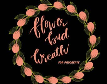 Flower Bud wreath for Procreate