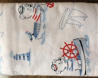 Handmade Flannel Baby Boy Receiving Blankets, Car Seat Blanket- 100% Cotton, 2 Options