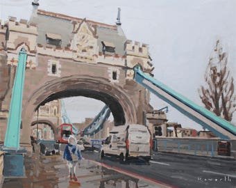 "Tower Bridge London // art original oil painting // 16x20"" oil on canvas unframed // by Elliot Roworth"