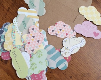 Happy Little Cloud-Upcycled Ephemera Pack 2-40 Pieces