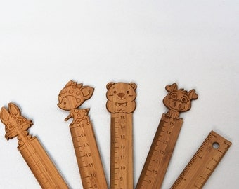Bamboo Animal Rulers