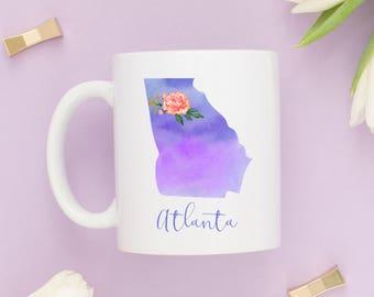 Atlanta Coffee Mug | Georgia Mug | City Mug | Location Mug | Gift for Her | Moving Gift | Atlanta Gift | Home Mug | Welcome To Atlanta