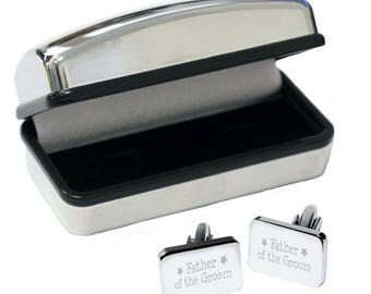 Father of Groom Cufflinks in Case - Perfect Wedding Gift