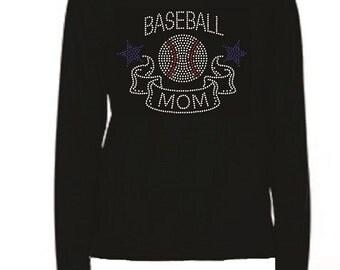 Rhinestone Baseball Mom Lightweight T-Shirt or Transfer                               2IRZ