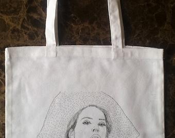 LANA DEL REY tote bag printed cotton