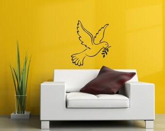 Dove silhouette wall art decal stickers