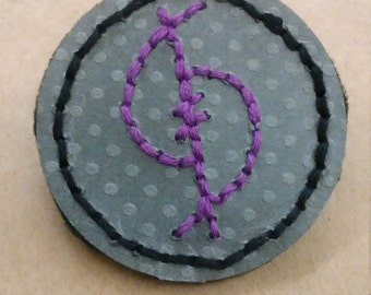 "Embroidered ""Confidence"" Sigil Pin"