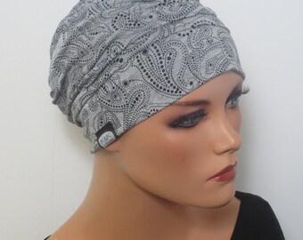 CHEMO Cap/ladies cap black grey Softcap Cap Wellness Sauna chemotherapy alopecia cancer Cap Hat
