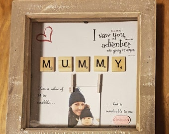 MUMMY SCRABBLE FRAME - mothers day gift