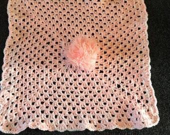 Handmade Crochet Baby Blanket 26inches square