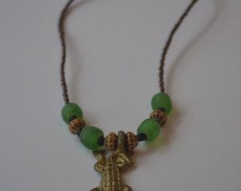 Alligator brass and Glass