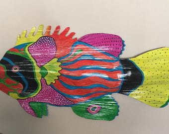 Colorful Palm Frond Fish