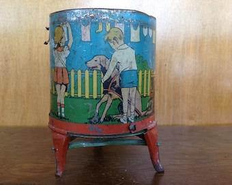 Vintage Ohio Art Tin Toy Washing Machine