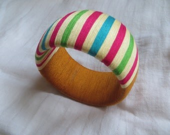 "thread wrapped extra chunky bangle ""Rajasthani"""