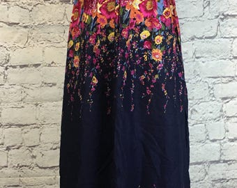 Navy Blue Flower Sundress