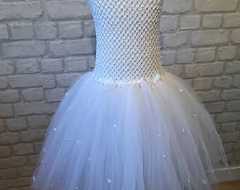 Beautiful all white tulle dress