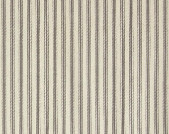 44 Inch Ticking Stripe Grey
