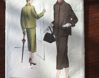 Vintage Vogue 'Special Design' Pattern - Suit - 1950 - Size 14, Bust 32, Hip 35