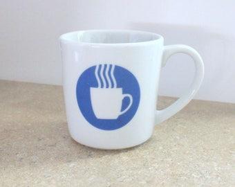 Vintage Crate and Barrel Coffee Symbol Mug