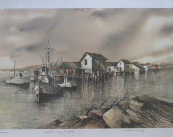 Signed Print by Robert Fabe- September Light